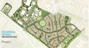 Alconbury Weald phase one map